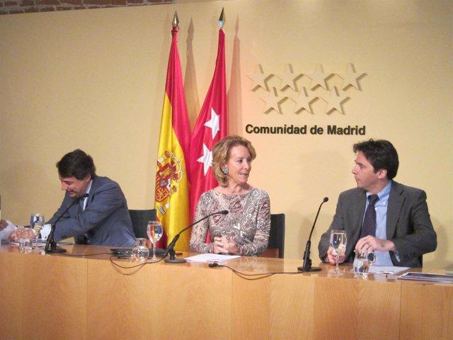 González, Aguirre Y Manglano Antes De Presentar Los Presupuestos De 2012