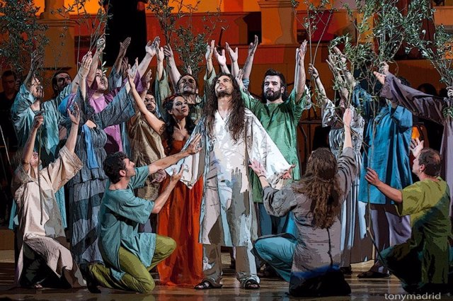 Momento De La Representación De 'Jesucristo Superstar'