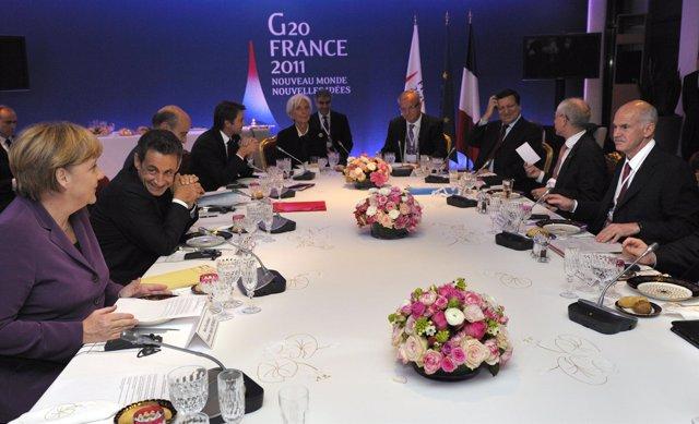Sarkozy, Angela Merkel Y Papandreu