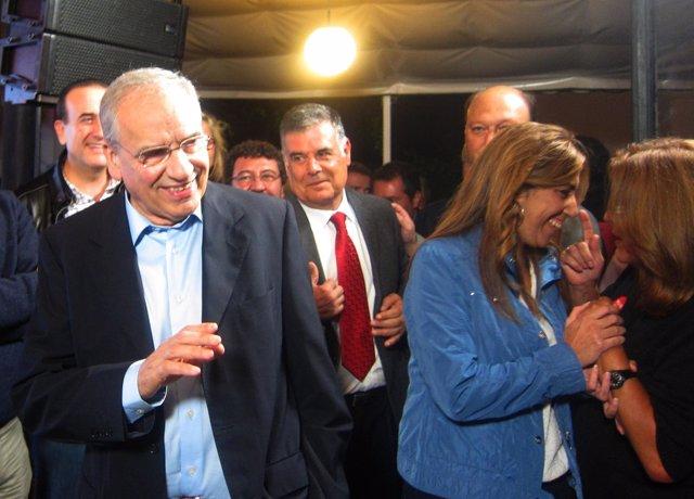 Alfonso Guerra Durante El Acto De Apertura De Campaña En Sevilla