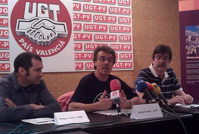El Presidente Del Comité De Empresa Del CIPF, Rafael Pulido, En Rueda De Prensa.
