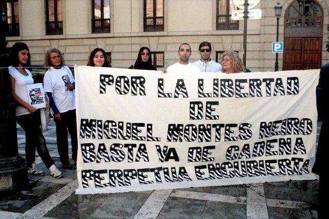 Manifestación Por La Libertad De Montes Neiro