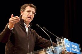 """(AV.) Feijóo ironiza con las """"preguntas"""" de Rubalcaba y vaticina que los españoles le responderán """"votando cambio"""""""