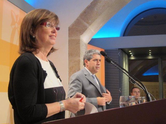 Irene Rigau Y Francesc Homs, En El Consell Executiu