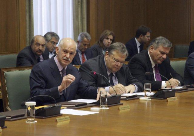Ministro De Finanzas, Evangelos Venizelos Y Papandreu