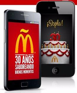 Aplicación 30 Aniversario Mcdonald's