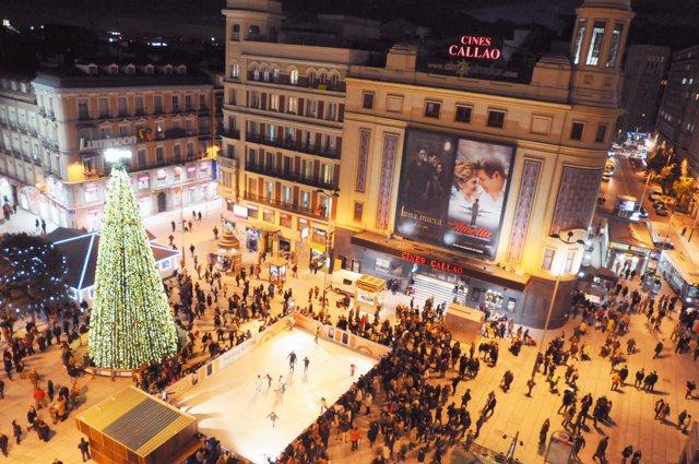 Plaza del Callao de Madrid en Navidad