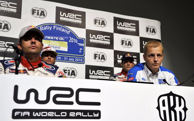 Loeb, Raikkonen, Hirvonen Y Ogier
