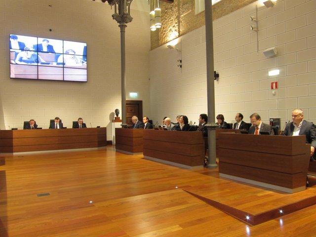 Pleno De La DPZ (Presidencia Y Grupos De PSOE, CHA E IU)
