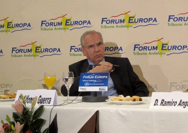 Alfonso Guerra, Hoy En El Fórum Europa. Tribuna Andalucía.