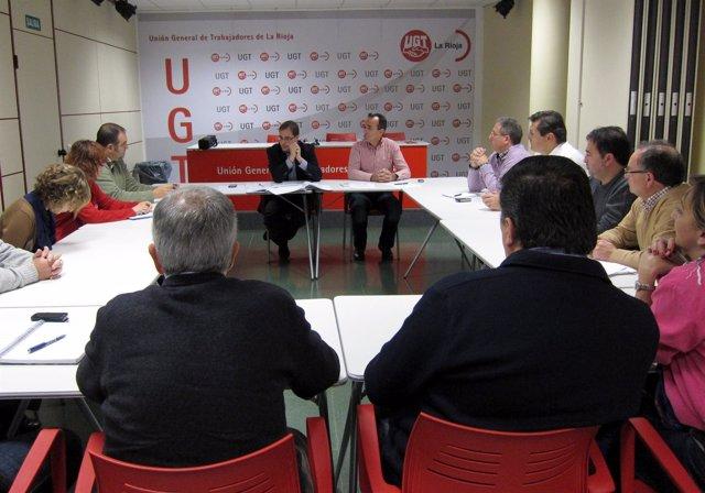 Momento De La Reunión PSOE-UGT