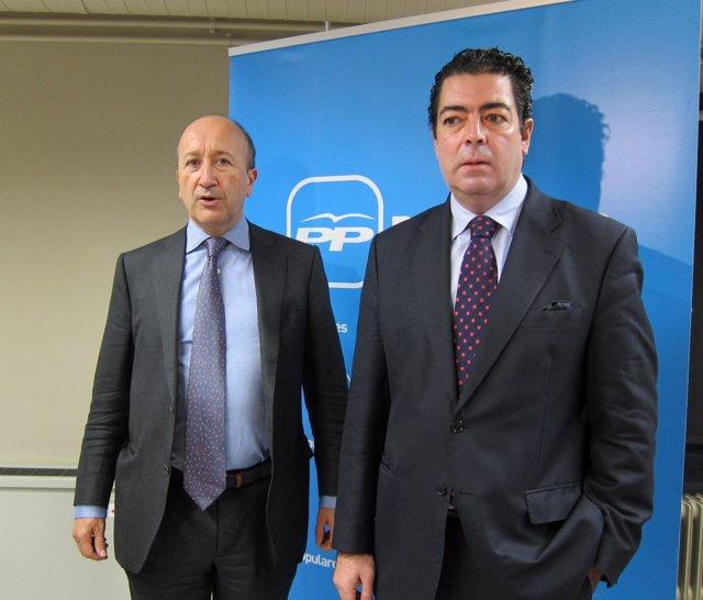 Miguel Ángel Cortes Y Alberto Gutiérrez, Candidatos Del PP De Valladolid