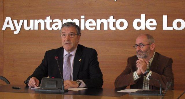 Los Concejales Felipe Royo Y Jesús Ruiz Tutor