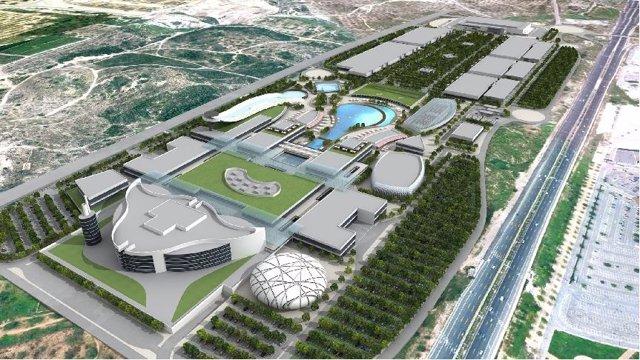 Maqueta Del Futuro Centro Comercial Puerto Ademuz De Paterna (Valencia).