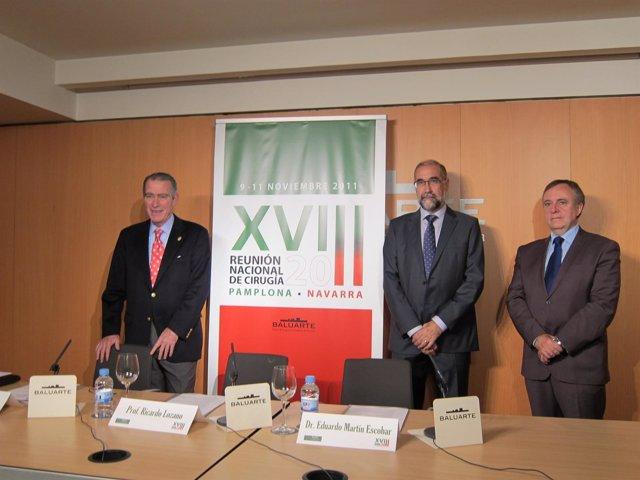 Presentación De La VIII Reunión Nacional De Cirugía Que Se Celebra En Pamplona.