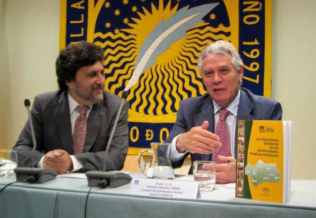 El Rector De La UPO, Juan Jiménez, Y El Consejero De Justicia, Francisco Menacho