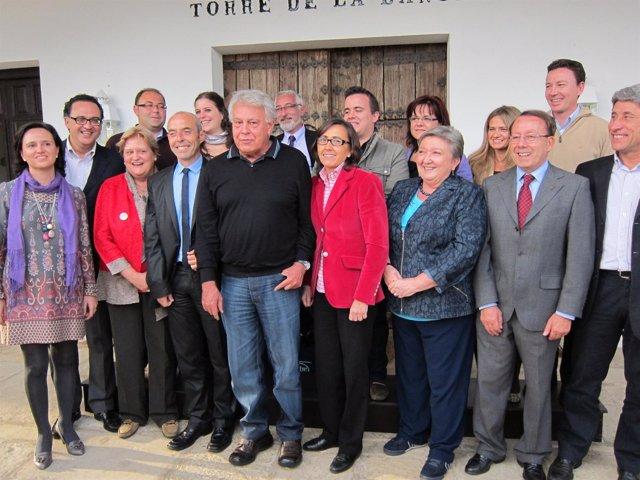 González Y Aguilar (En El Centro) Con La Candidatura Del PSOE Por Córdoba