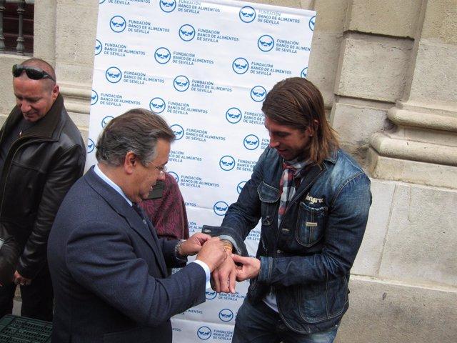 Zoido, Junto A Sergio Ramos En El Acto De Hoy