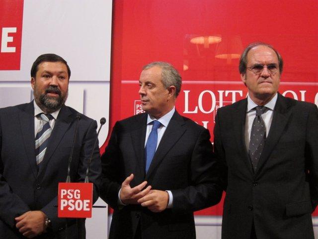 Francisco Caamaño, Pachi Vázquez  Y Ángel Gabilondo