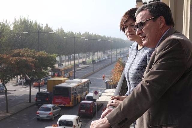 Al Alcalde De Lleida À.Ros Y La Delegada Del Gobierno M.García