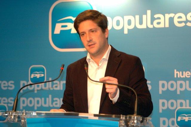 El portavoz del PP en Huelva, Guillermo García de Longoria