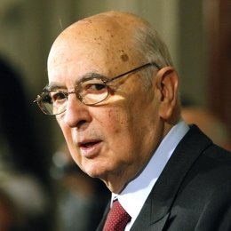 giorgio napolitano presidente de la republica Italia