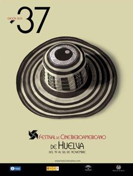 Cartel Anunciador De La 37 Edición Del Festival De Cine Iberoamericano De Huelva