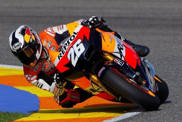 El Piloto De Honda, Dani Predrosa, Con La Motogp 2012