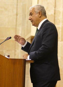 Javier Arenas, En El Pleno Del Parlamento