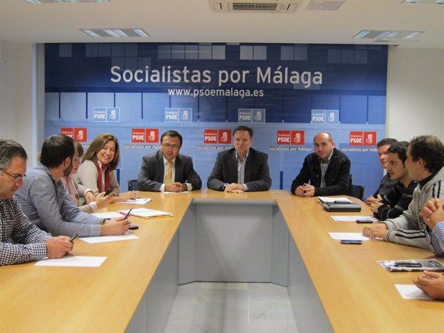 Iglesias, Junto A Heredia Y Otros Miembros Del PSOE De Málaga
