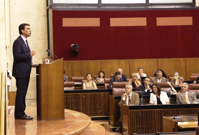 Mario Jiménez, Ante El Pleno Del Parlamento