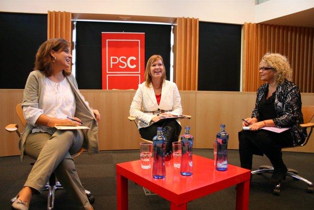 Leire Pajín, Marina Geli Y Iolanda Pineda (PSC)