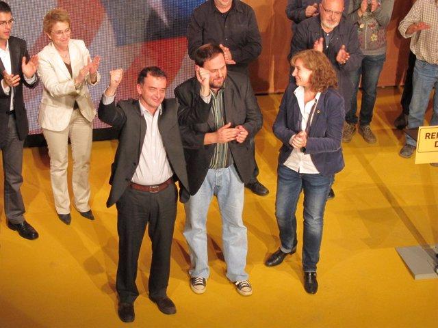 A.Bosch, O.Junqueras (ERC) Y R.Carandell (Reagrupament)