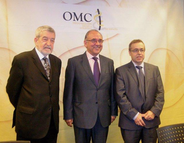 (De Izq. A Drcha) Marcos Gómez, Juan José Rodríguez Sendín Y Javier Rocafort
