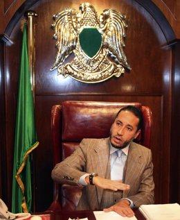 Saadi Gadafi, uno de los hijos de Muamar Gadafi