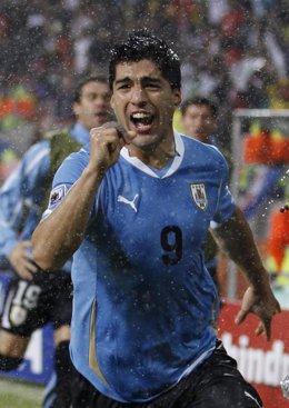 Luis Suárez con Uruguay