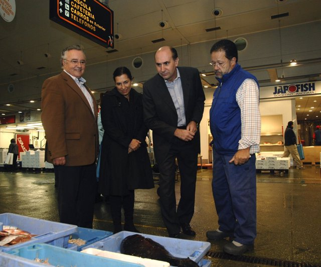 Ordiñaga Y Verdeguer Durante Una Visita A Mercavalencia.