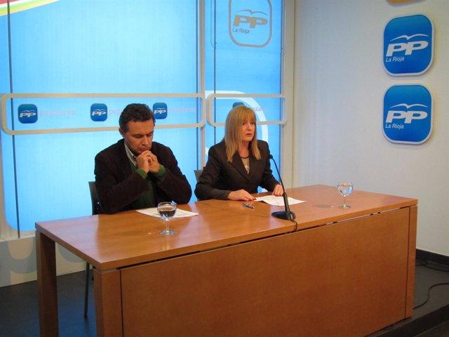 Conrado Escobar Y Francisca Mendiola, En La Sede Del PP