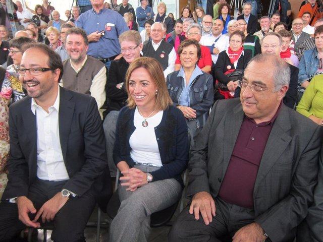 Àlex Sáez, Carme Chacón Y Joaquim Nadal (PSC)