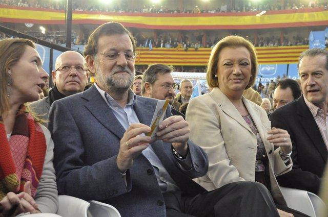 Rajoy. Junto A Rudi, En El Acto Central De Campaña
