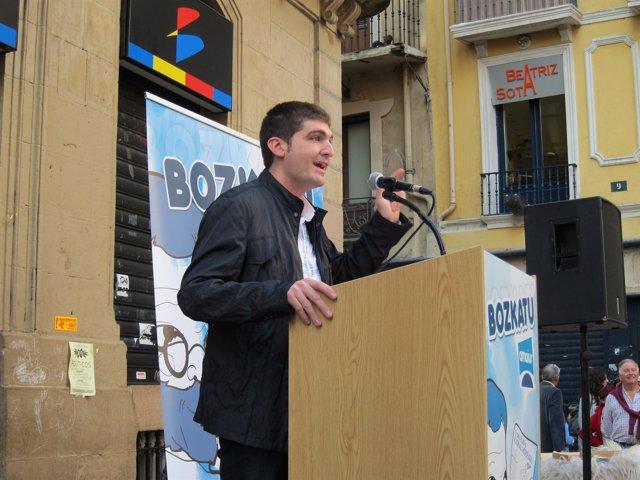 El Candidato De Amaiur Aritz Romeo.