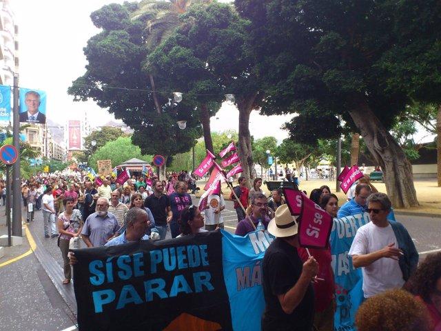 Manifestación Contra El Puerto De Granadilla