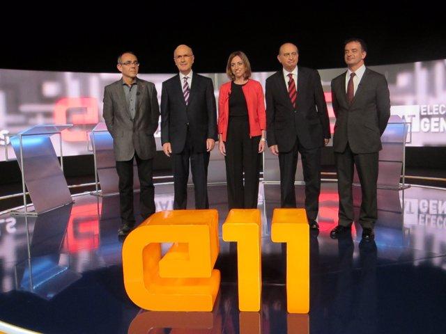 Los cinco candidatos catalanes de las elecciones generales 2011