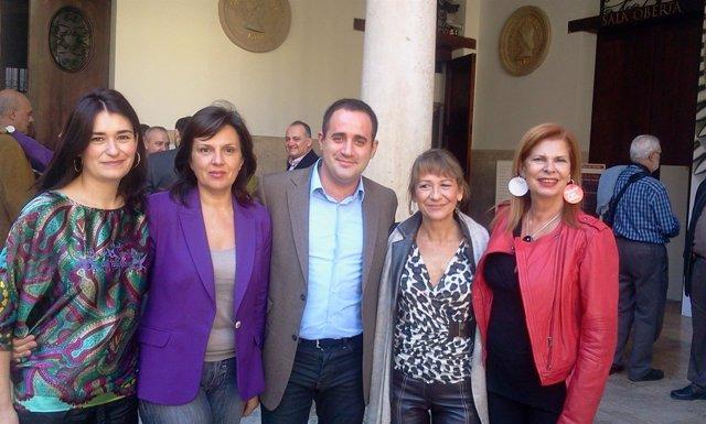 Montón, Martínez, Alarte, Rodríguez Piñero Y Alborch En Un Acto Del PSPV.