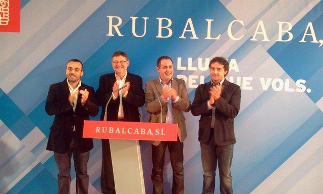 Alarte En Un Mitin En Villarreal (Castellón) Junto A Puig Y Colomer.