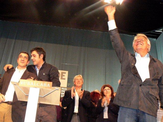 Patxi López, Eduardo Madina Y Felipe González