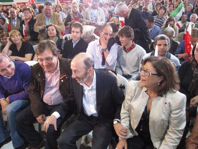 Rubalcaba Y Vara En Badajoz.Jpg