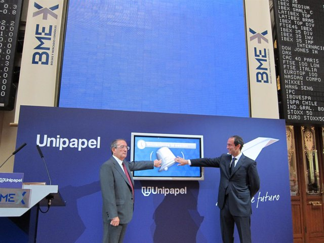 Celebración 25 Aniversario De Unipapel En Bolsa