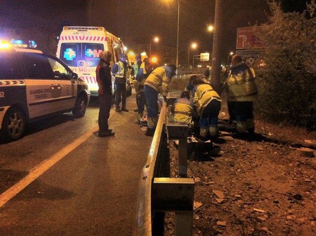 Accidente De Tráfico De Un Motorista En Madrid
