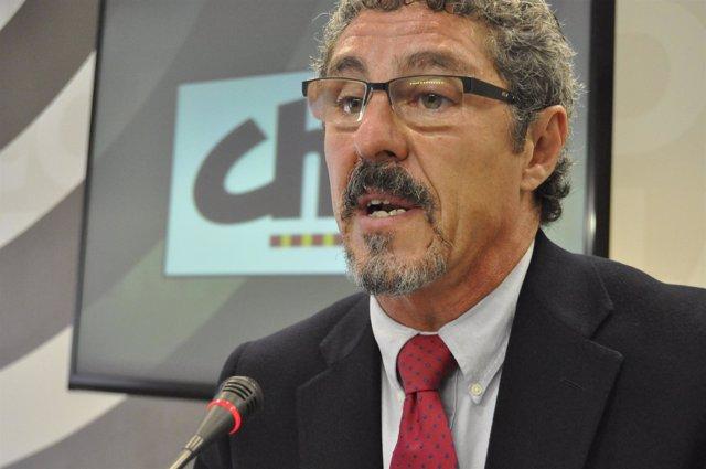 Gregorio Briz (CHA) Durante La Rueda De Prensa